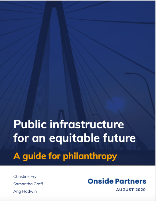 Cover page of infrastructure report