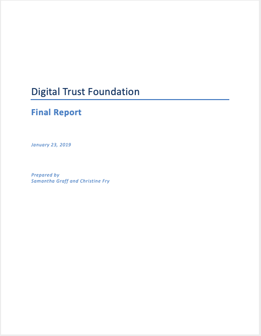 Image of Digital Trust Foundation report cover